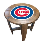 Chicago Cubs Oak Barrel Table