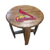 St. Louis Cardinals Oak Barrel Table
