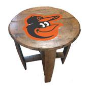 Baltimore Orioles Oak Barrel Table