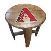 Arizona Diamondbacks Oak Barrel Table