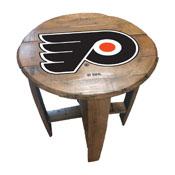 Philadelphia Flyers Oak Barrel Table