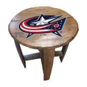 Columbus Blue Jackets Oak Barrel Table