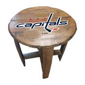 Washington Capitals Oak Barrel Table