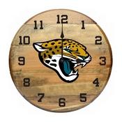 Jacksonville Jaguars Oak Barrel Clock