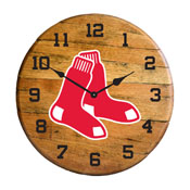 Boston Red Sox Oak Barrel Clock