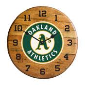 Oakland Athletics Oak Barrel Clock