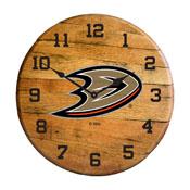 Anaheim Ducks Oak Barrel Clock