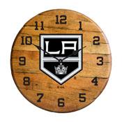 Los Angeles Kings Oak Barrel Clock