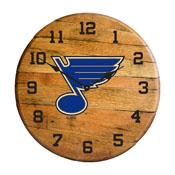 St. Louis Blues Oak Barrel Clock