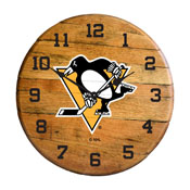 Pittsburgh Penguins Barrel Clock