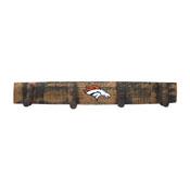 Denver Broncos Oak Coat Rack