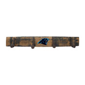 Carolina Panthers Oak Coat Rack