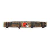 Cleveland Browns Oak Coat Rack