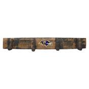 Baltimore Ravens Oak Coat Rack