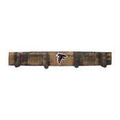 Atlanta Falcons Oak Coat Rack