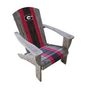 UNIVERSITY OF GEORGIA WOODEN ADIRONDACK CHAIR