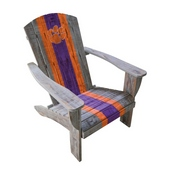 CLEMSON UNIVERSITY WOODEN ADIRONDACK CHAIR