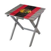 CHICAGO BLACKHAWKS FOLDING ADIRONDACK TABLE