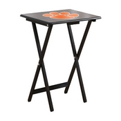 CLEMSON UNIVERSITY TV TRAYS W/ STAND
