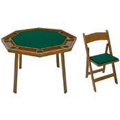 Kestell Compact Folding Poker Table