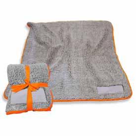 Plain Tangerine Trim Frosty Fleece