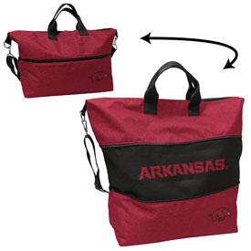 Arkansas Crosshatch Expandable Tote
