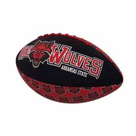 Arkansas State Mini-Size Rubber Football
