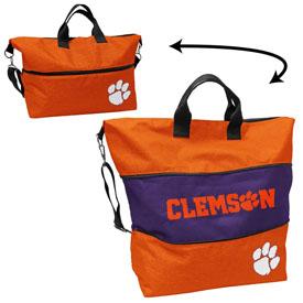 Clemson Crosshatch Expandable Tote