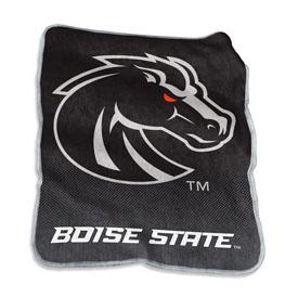 Boise State Blackout Raschel Throw