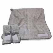 Plain Charcoal Trim Frosty Fleece