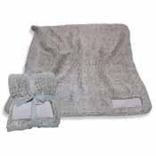 Plain Gray Trim Frosty Fleece