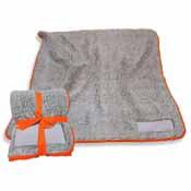 Plain Orange Trim Frosty Fleece