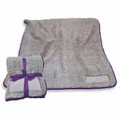 Plain Purple Trim Frosty Fleece