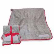 Plain Red Trim Frosty Fleece