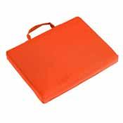 Plain Carrot Bleacher Cushion