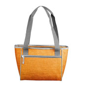 Plain Tangerine Crosshatch 16 Can Cooler Tote