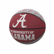 Alabama Repeating Logo Mini-Size Rubber Basketball