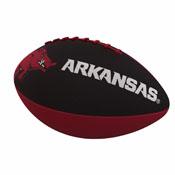 Arkansas Combo Logo Junior-Size Rubber Football