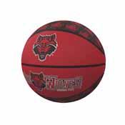 Arkansas State Mini-Size Rubber Basketball