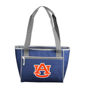Auburn Crosshatch 16 Can Cooler Tote