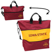 Iowa State Crosshatch Expandable Tote