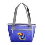 Kansas Crosshatch 16 Can Cooler Tote