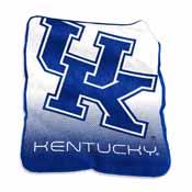 Kentucky logo Raschel Throw