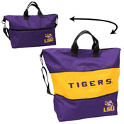 LSU Crosshatch Expandable Tote