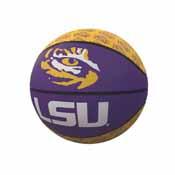 LSU Repeating Logo Mini-Size Rubber Basketball