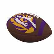 LSU Team Stripe Official-Size Composite Football