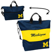 Michigan Crosshatch Expandable Tote