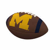 Michigan Team Stripe Official-Size Composite Football