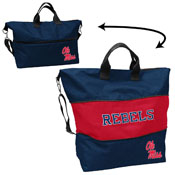 Ole Miss Crosshatch Expandable Tote