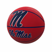 Ole Miss Mascot Official-Size Rubber Basketball